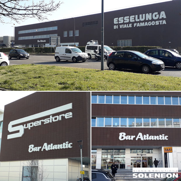 Illuminated signs for superstore | Soleneon for the Superstore Esselunga in viale Famagosta, Milan