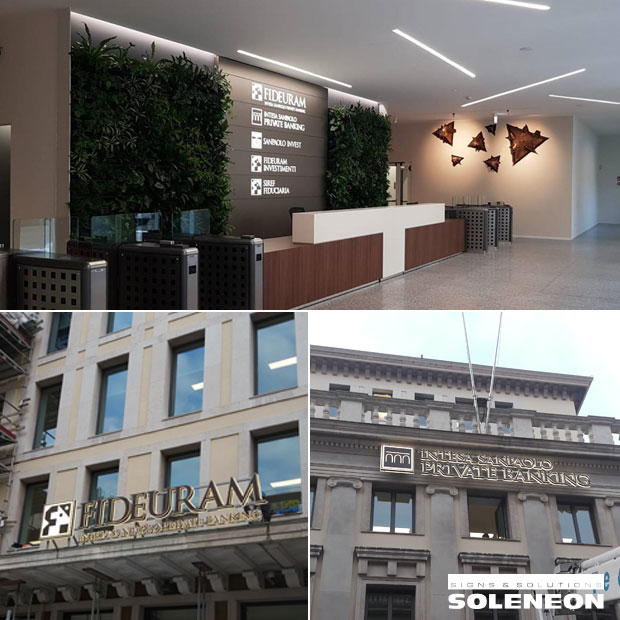 Led signs for banks | Soleneon for Fideuram - Intesa SanPaolo Private Banking.